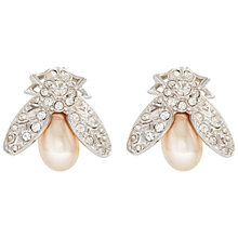 Buy Susan Caplan Vintage Attwood & Sawyer Silver Plated Faux Pearl Earrings, Pearl Online at johnlewis.com