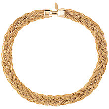 Buy Susan Caplan Vintage 1980s Gold Plated Weave Necklace, Gold Online at johnlewis.com