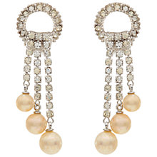 Buy Susan Caplan Vintage 1950s Ciner Silver Plated Faux Pearl Drop Clip-On Earrings,  Silver Online at johnlewis.com
