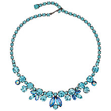 Buy Susan Caplan Vintage 1950s Regency Silver Plated Swarovski Crystal Necklace, Aqua Online at johnlewis.com