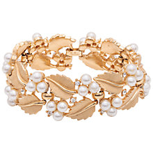Buy Susan Caplan Vintage 1960s Trifari Gold Plated Pearl Swarovski Crystal Bracelet, Gold Online at johnlewis.com