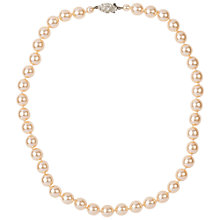 Buy Susan Caplan Vintage Bridal 1980s Single Strand Faux Pearl Necklace, White Online at johnlewis.com