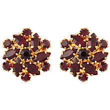 Buy Susan Caplan Vintage 1980s Gold Plated Swarovski Crystal Clip-On Earrings, Gold Online at johnlewis.com