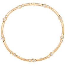 Buy Susan Caplan Vintage 1950s Grosse Gold Plated Swarovski Crystal Heart Necklace, Gold Online at johnlewis.com