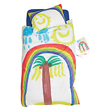 Buy little home at John Lewis Kai's Rainbow Duvet Cover and Pillowcase Set Online at johnlewis.com