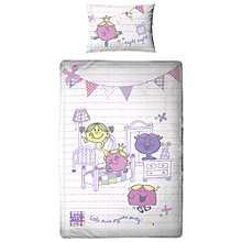 Buy Mr Men Little Miss Pyjama Party Single Duvet Cover and Pillowcase Set Online at johnlewis.com