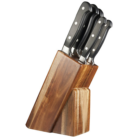 buy taylor 39 s eye witness acacia wood knife set and block 5 pieces john lewis. Black Bedroom Furniture Sets. Home Design Ideas