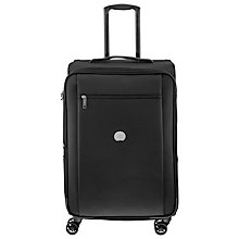 Buy Delsey Montmartre Pro 4-Wheel 65cm Medium Suitcase, Black Online at johnlewis.com