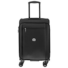 Buy Delsey Montmartre Pro 4-Wheel 55cm Cabin Suitcase, Black Online at johnlewis.com