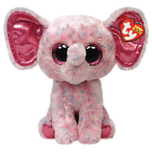 Buy Ty Beanie Boo Ellie Elephant Soft Toy, 24cm Online at johnlewis.com