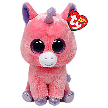 Buy Ty Beanie Boo Magic Unicorn Soft Toy, 16cm Online at johnlewis.com