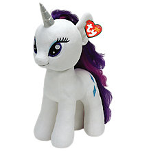 Buy Ty My Little Pony Rarity Beanie Baby, 42cm Online at johnlewis.com