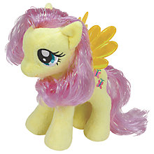 Buy Ty My Little Pony Fluttershy Beanie Baby, 17cm Online at johnlewis.com