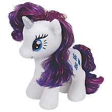 Buy Ty My Little Pony Rarity Beanie Baby, 17cm Online at johnlewis.com