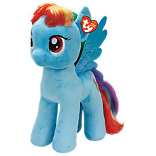 Buy Ty My Little Pony Dash Beanie Baby, 42cm Online at johnlewis.com
