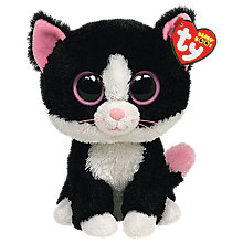 Buy Ty Beanie Boo Pepper Cat Soft Toy, 16cm Online at johnlewis.com