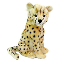 Buy Hansa Sitting Cheetah Cub Soft Toy Online at johnlewis.com