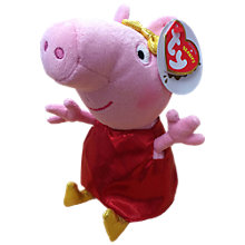 Buy Ty Peppa Pig Golden Boots Soft Toy, 15cm Online at johnlewis.com