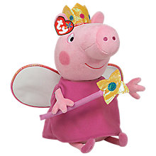 Buy Ty Peppa Pig Fairy Princess Beanie Baby, 38cm Online at johnlewis.com