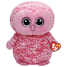 Buy Ty Beanie Boo Pinky Owl Soft Toy, 40cm Online at johnlewis.com