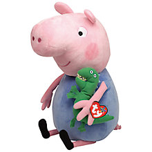 Buy Ty Peppa Pig George Pig Soft Toy, 38cm Online at johnlewis.com