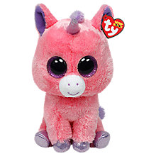 Buy Ty Beanie Boo Magic Unicorn Soft Toy, 24cm Online at johnlewis.com