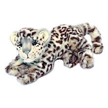 Buy Hansa Hand Sewn Snow Leopard Cub Soft Toy Online at johnlewis.com