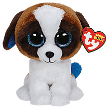 Buy Ty Beanie Boo Duke Dog Soft Toy, 16cm Online at johnlewis.com