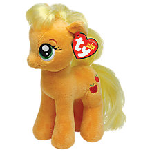 Buy Ty My Little Pony Applejack Beanie Baby, 30cm Online at johnlewis.com