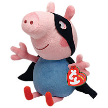 Buy Ty Peppa Pig George Superhero Soft Toy, 15cm Online at johnlewis.com