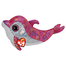 Buy Ty Beanie Boo Sparkles Dolphin Soft Toy, 24cm Online at johnlewis.com