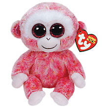 Buy Ty Beanie Boo Ruby Monkey Soft Toy, 16cm Online at johnlewis.com