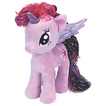 Buy Ty My Little Pony Twilight Sparkle Beanie Baby, 30cm Online at johnlewis.com