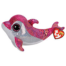 Buy Ty Beanie Boo Sparkles Dolphin Soft Toy, 16cm Online at johnlewis.com