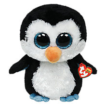 Buy Ty Beanie Boo Waddles Penguin Soft Toy, 40cm Online at johnlewis.com