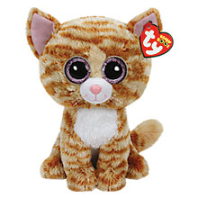 Buy Ty Beanie Boo Tabitha Cat Soft Toy, 24cm Online at johnlewis.com
