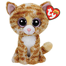 Buy Ty Beanie Boo Tabitha Cat Soft Toy, 16cm Online at johnlewis.com