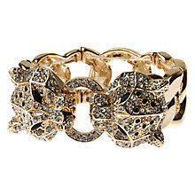 Buy Adele Marie Stretch Leopard Heads Bracelet, Gold Online at johnlewis.com