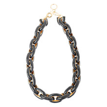 Buy Adele Marie Enamel Chunky Chain Necklace, Grey/Gold Online at johnlewis.com