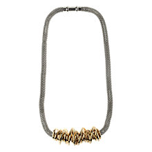 Buy Adele Marie Mesh and Twist Necklace, Silver/Gold Online at johnlewis.com