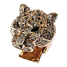 Buy Adele Marie Stretch Leopard Head Ring, Gold Online at johnlewis.com