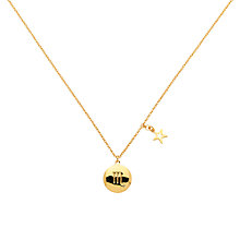 Buy Melissa Odabash Gold & Topaz Scorpio Pendant, Gold Online at johnlewis.com