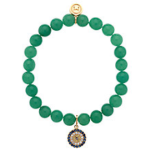 Buy Melissa Odabash Jade Evil Eye Stretch Bracelet, Green Online at johnlewis.com