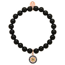 Buy Melissa Odabash Onyx and Rose Gold Bracelet, Black Online at johnlewis.com