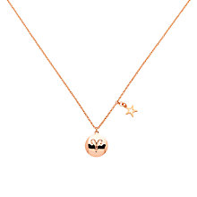 Buy Melissa Odabash Rose Gold & Crystal Aries Pendant, Rose Gold Online at johnlewis.com