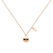 Buy Melissa Odabash Rose Gold & Pearl Gemini Pendant, Rose Gold Online at johnlewis.com