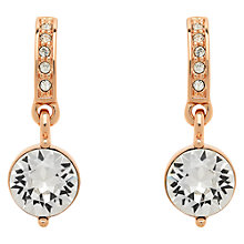 Buy Finesse Swarovski Crystal Drop Earrings, Rose Gold Online at johnlewis.com