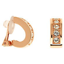 Buy Finesse Swarovski Crystals Half Hoop Earrings, Rose Gold Online at johnlewis.com