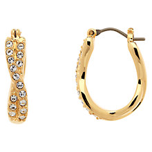 Buy Finesse Swarovski Double Hoop Earrings Online at johnlewis.com