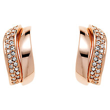 Buy Finesse Rose Gold Plated Swarovski Crystal Wave Earrings, Gold Online at johnlewis.com